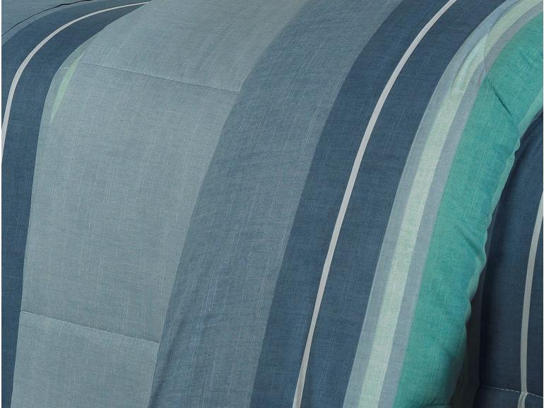 Jogo de Cama Queen Percal 180 fios - Menfis Azul - Dui Design