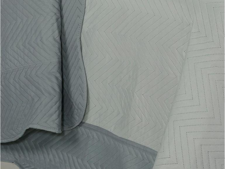 Kit: 1 Cobre-leito Casal Bouti de Microfibra Ultrasonic + 2 Porta-travesseiros - Meridian Cinza - Dui Design