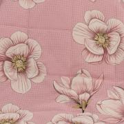 Kit: 1 Cobre-leito Casal + 2 Porta-travesseiros Percal 180 fios - Merinda Rosa - Dui Design