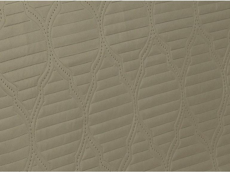 Kit: 1 Cobre-leito Casal Bouti de Microfibra Ultrasonic + 2 Porta-travesseiros - Messina Bege - Dui Design