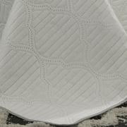 Kit: 1 Cobre-leito Casal Bouti de Microfibra Ultrasonic + 2 Porta-travesseiros - Messina Branco e Cinza - Dui Design
