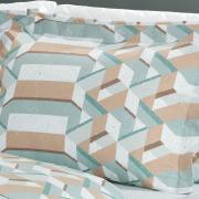 Jogo de Cama Queen 150 fios - Metrópole Acqua - Dui Design