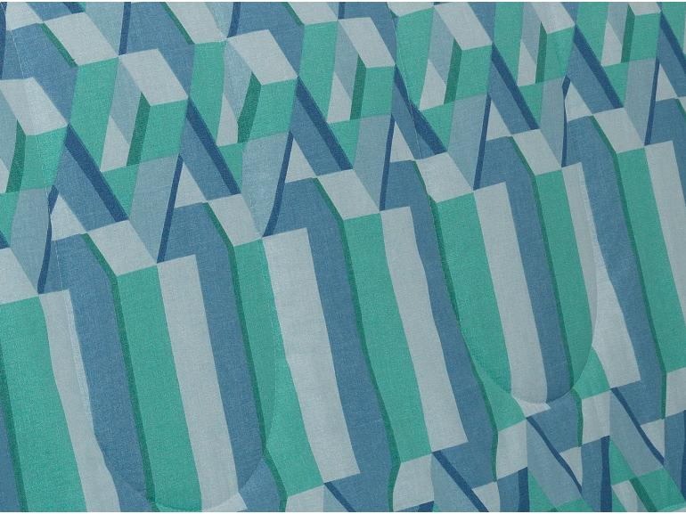Jogo de Cama Queen 150 fios - Metropole Azul - Dui Design