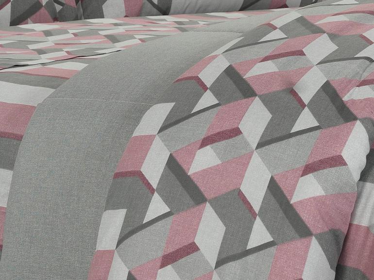 Jogo de Cama Queen 150 fios - Metrópole Cinza - Dui Design