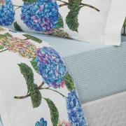 Jogo de Cama Casal Percal 180 fios - Mila Azul - Dui Design