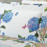 Enxoval Casal com Cobre-leito 7 peças Percal 180 fios - Mila Azul - Dui Design