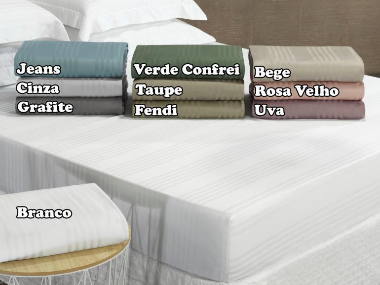 Lençol Solteiro com elástico Avulso Cetim 300 fios 100% Algodão - Milano - Dui Design