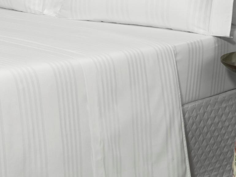 Jogo de Cama Casal Cetim 300 fios - Milano Branco - Dui Design