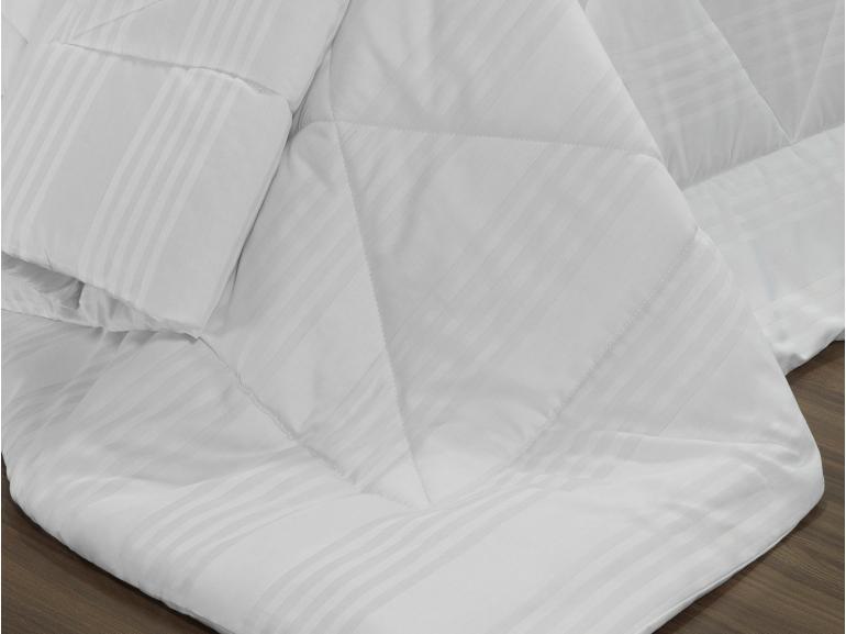 Enxoval Casal com Edredom 5 peças Cetim 300 fios - Milano Branco - Dui Design