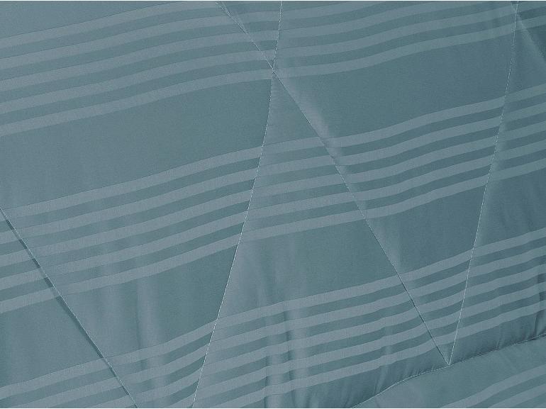 Enxoval Casal com Edredom 5 peças Cetim 300 fios - Milano Jeans - Dui Design