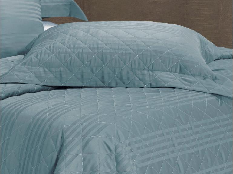 Enxoval Casal com Cobre-leito 7 peças Cetim 300 fios - Milano Jeans - Dui Design