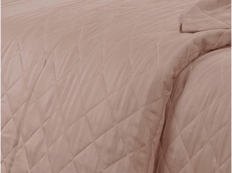 Enxoval Casal com Cobre-leito 7 peças Cetim 300 fios - Milano Rosa Velho - Dui Design