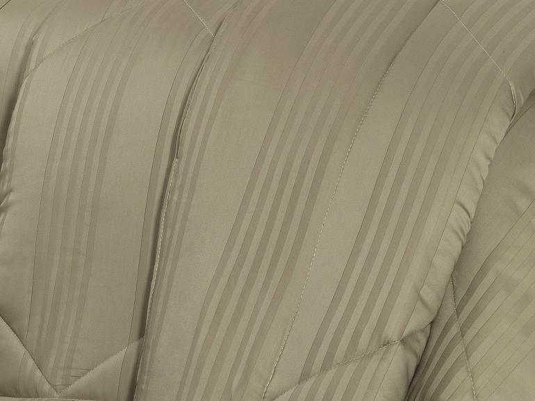 Enxoval Casal com Edredom 5 peças Cetim 300 fios - Milano Taupe - Dui Design