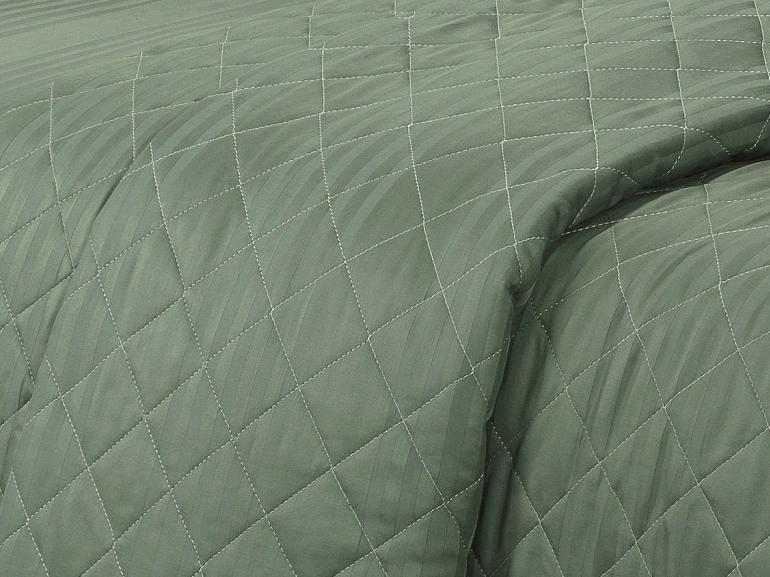 Enxoval Casal com Cobre-leito 7 peças Cetim 300 fios - Milano Verde Confrei - Dui Design