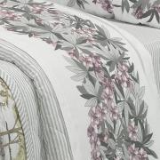 Enxoval Casal com Cobre-leito 7 peças Percal 180 fios - Miura Cinza - Dui Design