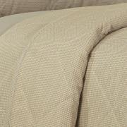 Kit: 1 Cobre-leito King + 2 Porta-travesseiros 150 fios - Mix Bege - Dui Design