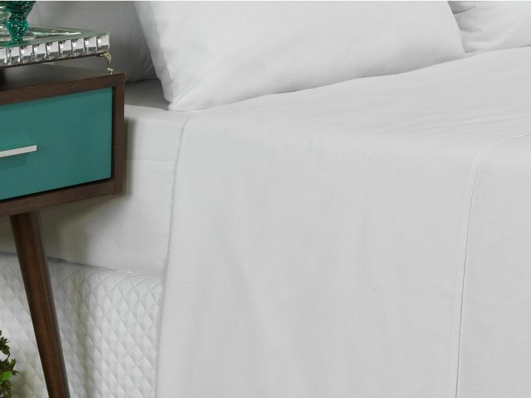 Jogo de Cama King 150 fios 100% Algodão - Mix Branco - Dui Design