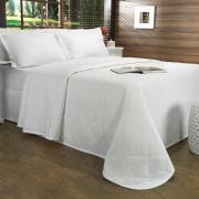 Kit: 1 Cobre-leito Queen + 2 Porta-travesseiros 150 fios - Mix Branco - Dui Design