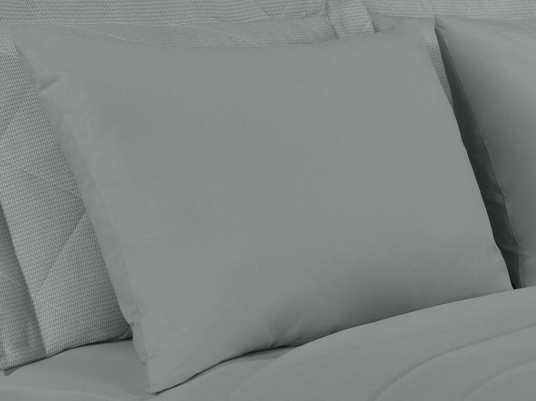Jogo de Cama Queen 150 fios 100% Algodão - Mix Cinza - Dui Design
