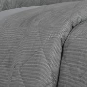 Kit: 1 Cobre-leito King + 2 Porta-travesseiros 150 fios - Mix Grafite - Dui Design