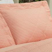 Kit: 1 Cobre-leito King + 2 Porta-travesseiros 150 fios - Mix Coral - Dui Design