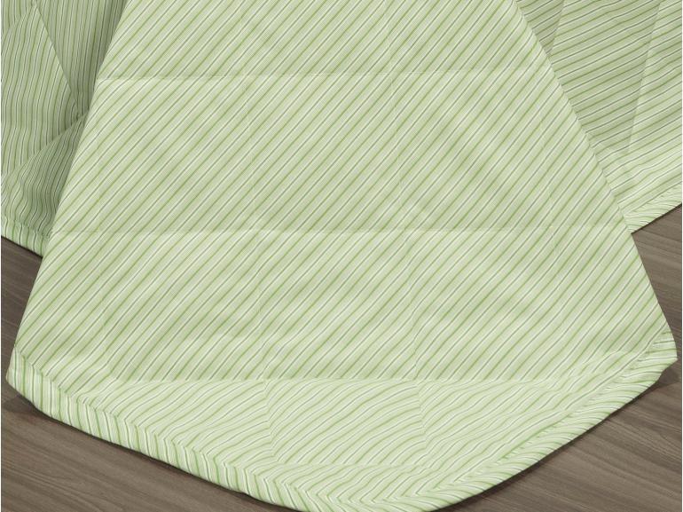 Kit: 1 Cobre-leito King + 2 Porta-travesseiros 150 fios - Mix Pistache - Dui Design