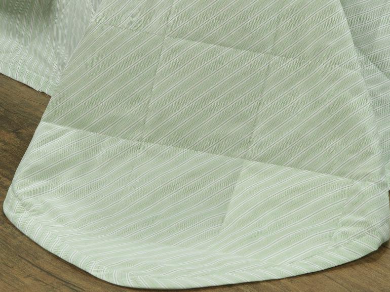 Enxoval Solteiro com Cobre-leito 5 peças 150 fios - Mix Verde - Dui Design