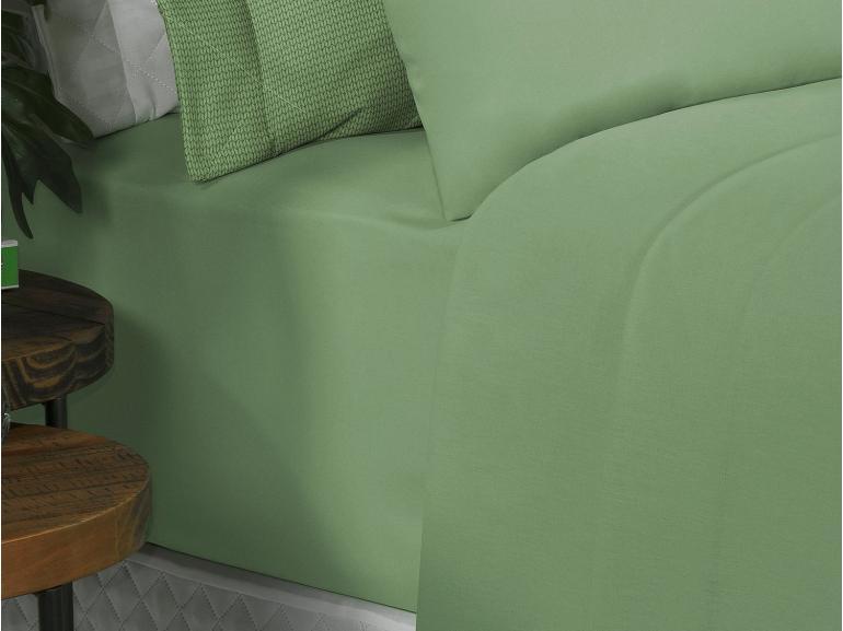 Jogo de Cama King 150 fios 100% Algodão - Mix Verde - Dui Design