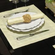 Jogo Americano 4 Lugares (4 peças) Fácil de Limpar 35x50cm - Monarca Champagne - Dui Design