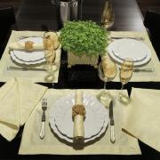 Kit: 4 Guardanapos 50x50cm - Monarca Champagne - Dui Design