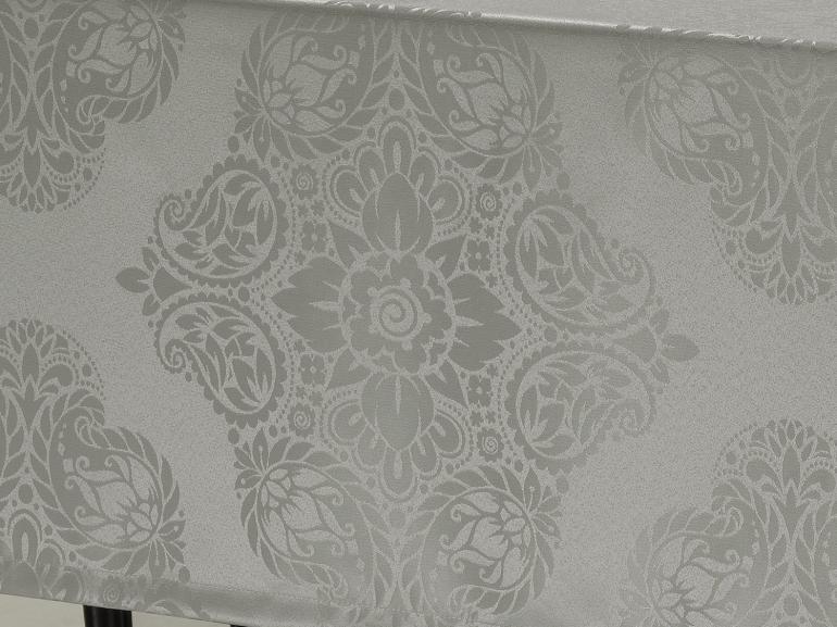 Toalha de Mesa Fácil de Limpar Retangular 6 Lugares 160x220cm - Monarca Cinza - Dui Design