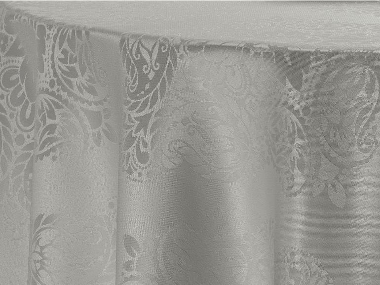 Toalha de Mesa Fácil de Limpar Redonda 220cm - Monarca Cinza - Dui Design