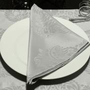 Kit: 4 Guardanapos 50x50cm - Monarca Cinza - Dui Design