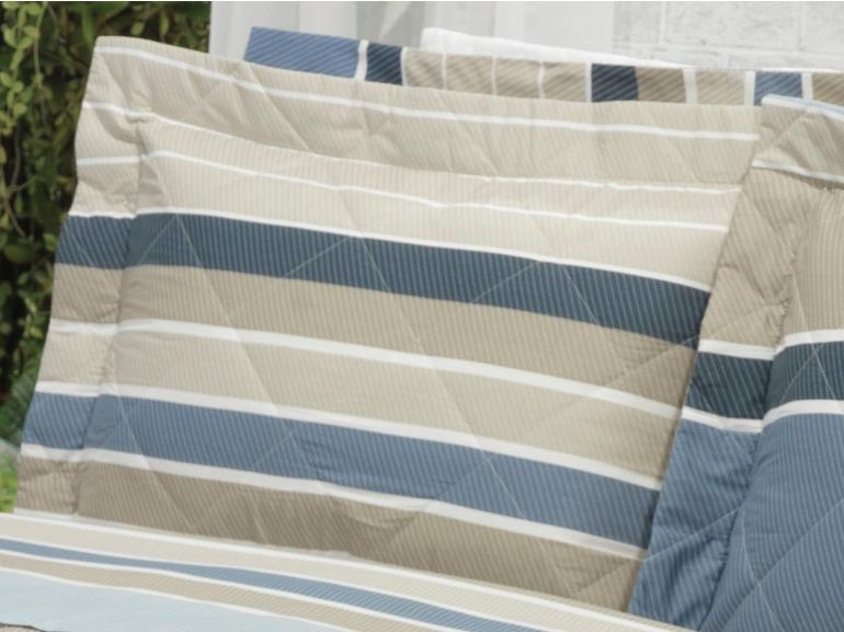 Kit: 1 Cobre-leito Solteiro + 1 Porta-travesseiro Percal 200 fios - Mondeo Taupe - Dui Design