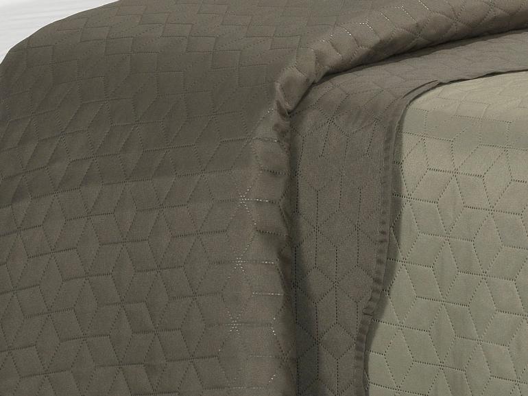 Kit: 1 Cobre-leito Queen Bouti de Microfibra Ultrasonic + 2 Porta-travesseiros - Mondial Taupe - Dui Design