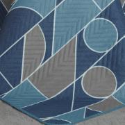 Kit: 1 Cobre-leito Queen Bouti de Microfibra Ultrasonic Estampada + 2 Porta-travesseiros - Monteiro Azul - Dui Design