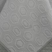Kit: 1 Cobre-leito Queen Bouti de Microfibra Ultrasonic + 2 Porta-travesseiros - Monterey Cinza - Dui Design