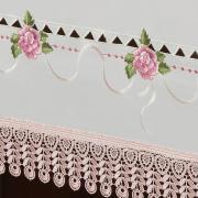Toalha de Mesa com Bordado Richelieu Retangular 8 Lugares 160x270cm - Morgana Vintage - Dui Design
