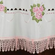 Toalha de Mesa com Bordado Richelieu Redonda 180cm - Morgana Vintage - Dui Design