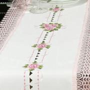 Trilho de Mesa com Bordado Richelieu 45x170cm Avulso - Morgana Vintage - Dui Design