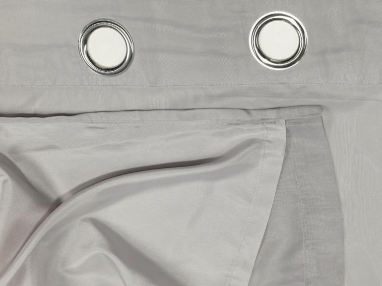 Cortina Dupla Voil com Forro de Tecido Microfibra 2,30m de Altura para Varão entre 1,80m e 2,20m de Largura - Munique - Dui Design