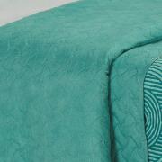 Kit: 1 Cobre-leito Solteiro Bouti de Microfibra Ultrasonic Estampada + 1 Porta-travesseiro - Murano Turquesa - Dui Design