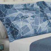 Kit: 1 Cobre-leito King Bouti de Microfibra Ultrasonic Estampada + 2 Porta-travesseiros - Myles Azul - Dui Design