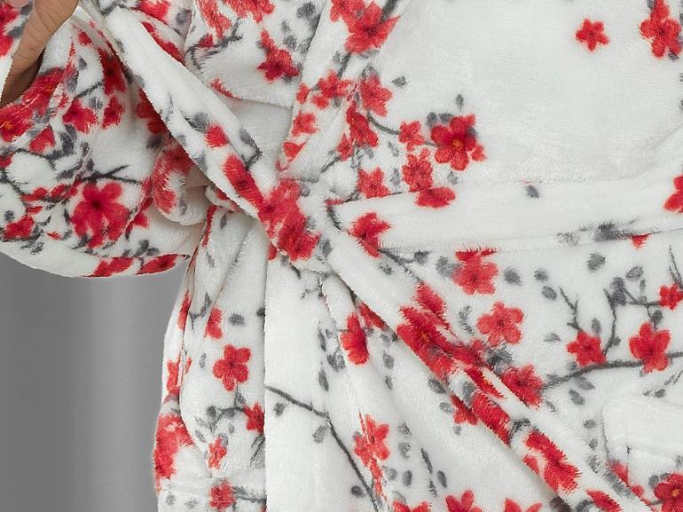 Roupão Gola Xale Microfibra (G) - Naomi Vermelho - Dui Design