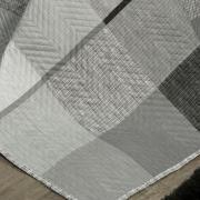 Kit: 1 Cobre-leito Queen Bouti de Microfibra Ultrasonic Estampada + 2 Porta-travesseiros - Napoles Grafite - Dui Design