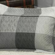 Kit: 1 Cobre-leito Casal Bouti de Microfibra Ultrasonic Estampada + 2 Porta-travesseiros - Napoles Grafite - Dui Design