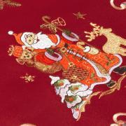 Trilho de Mesa Natal com Bordado Richelieu 40x85cm Avulso - Natal Especial Vermelho - Dui Design
