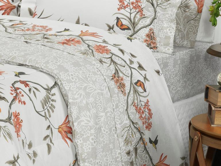 Edredom Solteiro Percal 200 fios - Natalie Sephia - Dui Design