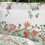 Kit: 1 Cobre-leito Solteiro + 1 Porta-travesseiro Percal 200 fios - Natalie Verde Celadon - Dui Design