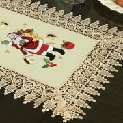 Trilho de Mesa Natal com Bordado Richelieu 40x85cm Avulso - Natalina Natural - Dui Design